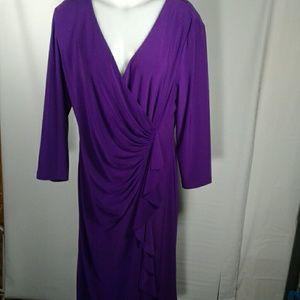Kasper Purple Party Dress